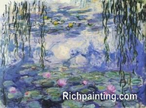 HQ Oil Painting Reproduction Claud Monet-the Waterlily Pond (5)