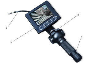 Waterproof Industrial Endoscope, Military Police Tactical Endoscope with 3m Wire Camera