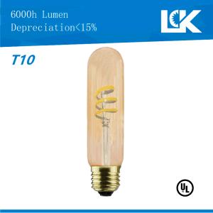 china cri90 6 5w 500lm t10 new retro spiral filament led light bulb