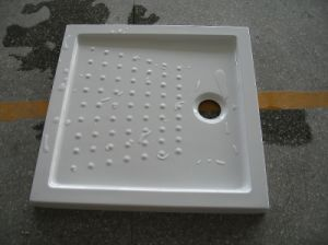 Square Acrylic Fiberglass Shower Tray with Fiberglass Resin Bottom pictures & photos