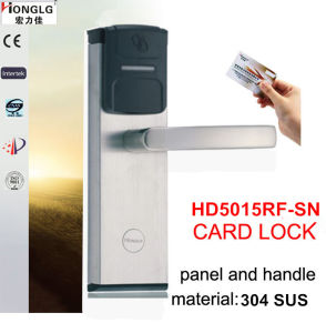 Electronic Wireless RF Card Hotel Lock (HK5015) pictures & photos