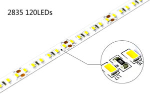 Good Quality SMD2835 120LEDs/M CRI>95 Flexible Strip pictures & photos