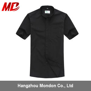Wholesale Clergy Shirt with Short Sleeves in Black pictures & photos