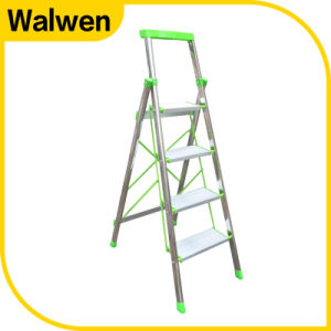 Foldable & Portable Folding Agility Aluminum Step Ladder pictures & photos