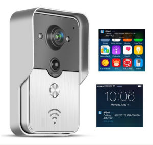 Rainproof Touch Key Wireless WiFi Video Visual Door Phone Doorbell Intercom  System Home Security For IPhone