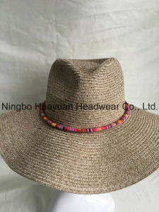 100% Polyester Sewn Braid Washable Straw Hat
