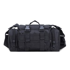 Functional Structured Tactical Gun Shooting Range Backpack Deluxe Pistol Duffle Bag In Black Camouflage