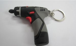 Novelty Customized Electric Drill PVC USB Flash Stick (OM-P174) pictures & photos