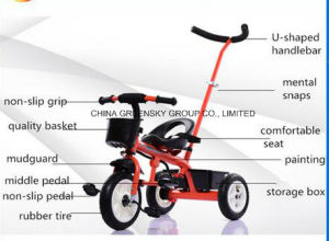 New Tricycle for Children/Baby Toys Trikes with Push Bar Certificate CCC pictures & photos