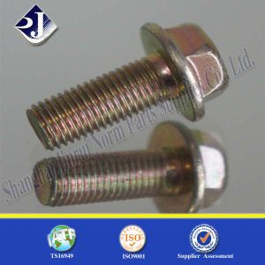 with Zinc Coating Fastener Screw Flange Bolt pictures & photos