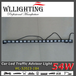 52 Inch LED Strobe Arrow Stick with Traffic Warning Bar Light