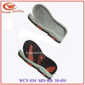 Fashion Design Men Sandals Sole, EVA+Rb Outsole for Making Shoes pictures & photos