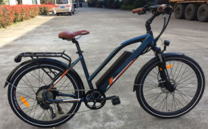 "China 26"" 36V 48V 250W 350W Lady′s Half Hidden Battery Electric Bicycle with Rear Carrier E-Bicycle City Electric Vehicle E Bicycle"