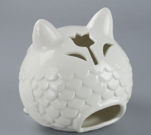 Hot Sale Decorative Ceramic Owl Candle Holder pictures & photos