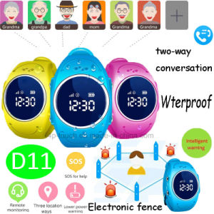 Waterproof IP67 Kids GPS Tracker Watch with Multiple Languages (D11) pictures & photos