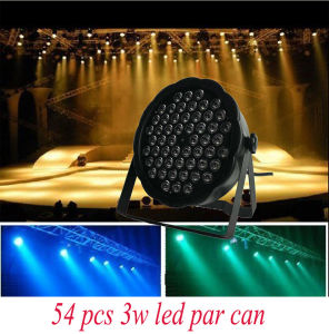 New Mini LED PAR Light 54PCS*1W/3W LED PAR Can for Stage