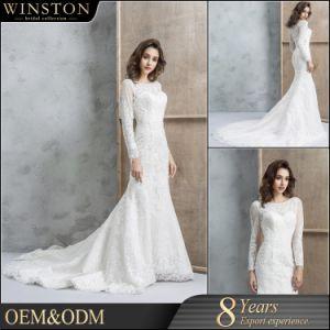efc10bed0c1 China White Sexy Mermaid Wedding Dress 2018 Long Sleeve - China ...