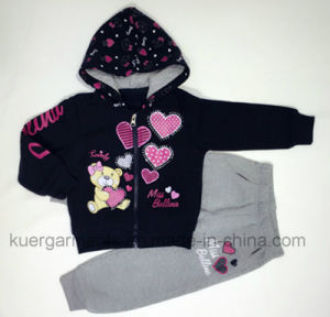 Warm Girl Suit for Sports in Children Clothing