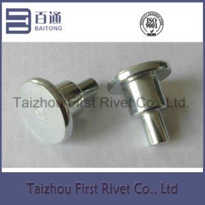 16X31mm White Zinc Plated Flat Head Tubular Steel Shoulder Rivet