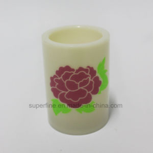 Weeding Decorative Romantic Flower Printed LED Pillar Flameless Shining Candle pictures & photos