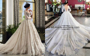 Lace Wedding Ball Gown Long Sleeves Bridal Dress Ld15219 pictures & photos