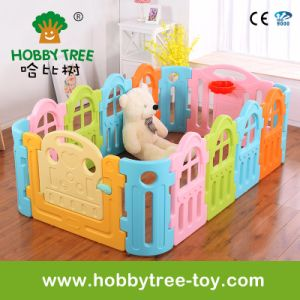 China 2017 Macarons Color Plastic Indoor Baby Playpen Hbs17033a