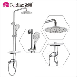 Hot Sale Low Price High Quality Brass   Rain Shower Mixer Faucet with Shelf