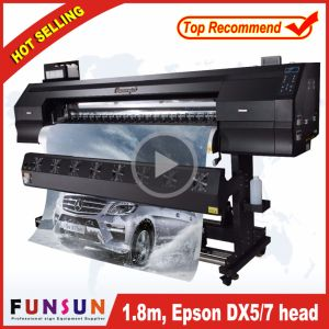 Funsunjet Fs-1802g 1.8m/6FT Outdoor Wide Format Printer with Two Dx5 Heads 1440dpi for Flex Banners Printing pictures & photos