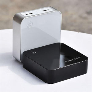 6000mAh Cube-Shaped Portable Power Bank with Display Mobile Phone Charger