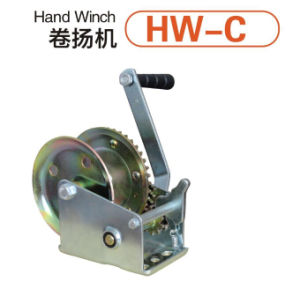 Hand Winch with Brake and with Wire Rope or Webbing
