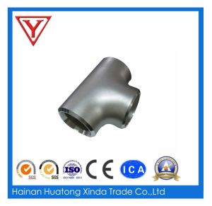 Metal Fabrication Welding Stainless Metal Pipe Fitting Tees pictures & photos