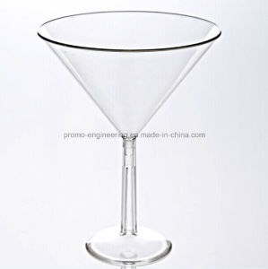 Whole Sale 8oz Goblet Plastic Stem Cocktail Cup with Detachable Base pictures & photos