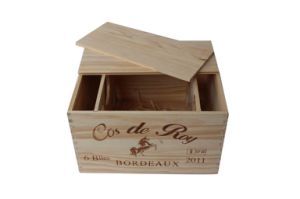 6 Bottles Wooden Wine Box/Pine Gift Box