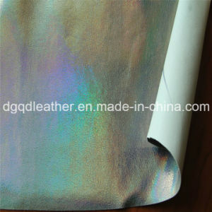 Double-Sided PU Shoes Leather (QDL-SP022) pictures & photos