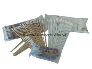 Wooden Stick Cotton Tipped Medical Swab pictures & photos