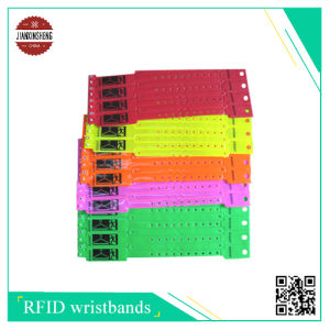 One Side Sublimation Satin Wristbands with Hard PVC Slider pictures & photos
