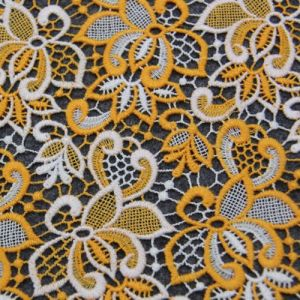 Two Color Cotton Chemical Lace Fabric