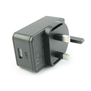 UK Plug 5V 3A USB Port Power Adapter