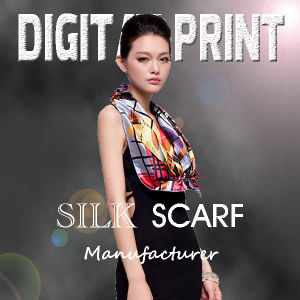 Print on Silk Fabric for Scarf Making 100% Silk Scarves pictures & photos