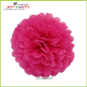 Hot Pink Paper POM Poms for Wedding