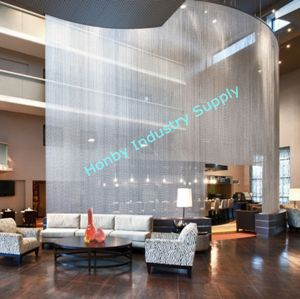 Vertical Hanging Metal Bead Chain Curtain For Room Divider