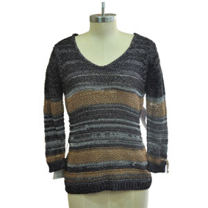 Fashion Women Loose Pullover Knitted Sweater (42R8256) pictures & photos