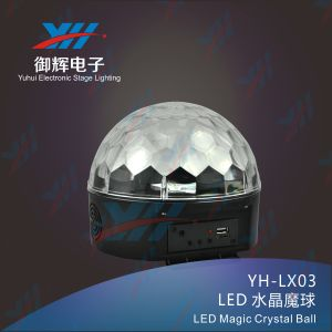 Disco RGB Crystal LED Magic Ball Light for DJ Clubs Stage Effect Lighting