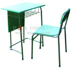 Cheap Wood School Single Student Desk and Chair, School Furniture (GT-39) pictures & photos