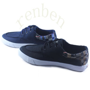 New Hot Sale Men′s Vulcanized Casual Canvas Shoes pictures & photos