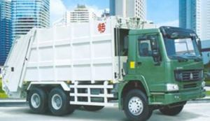 HOWO 6X4 22m3 CNG Garbage Truck (ZZ3257N4347C1C) pictures & photos