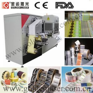 Auto Feeding Printed Adhesive Roll Label Laser Cutting Machine