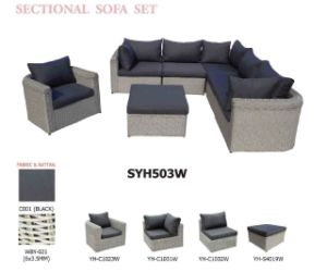 Good Quality Outdoor Wicker/Rattan Furniture/Sofa Set with Low Price for  Export