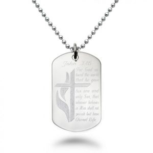 316 Stainless Steel Dog Tag Necklace 24 Inches pictures & photos
