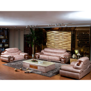 Modern Chinese Furniture Set Genuine Leather Sectional Sofa A256b